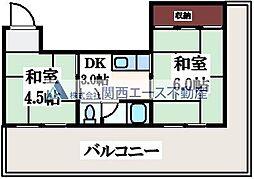 竹宏深江橋マンション[5階]の間取り