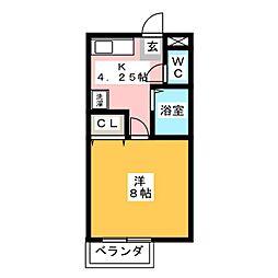 サンガーデン藤和B棟[1階]の間取り