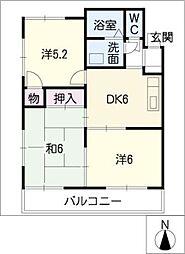 サン桐ヶ丘A&B A棟[2階]の間取り