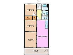 三重県鈴鹿市白子駅前の賃貸マンションの間取り