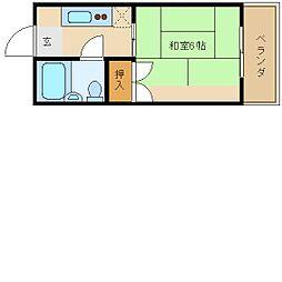 大阪府東大阪市吉田2丁目の賃貸マンションの間取り