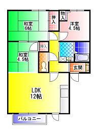 プラク・ミニエ[2階]の間取り