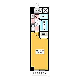 A・City朝日町[8階]の間取り