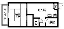 ハイネス能島I[2階]の間取り