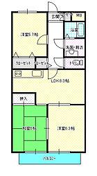 茨城県水戸市中央1丁目の賃貸マンションの間取り