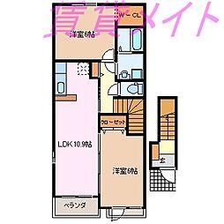 メイプル テラス[2階]の間取り