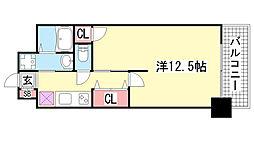グルーブ三宮Aria[2階]の間取り
