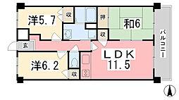 ファーレ姫路[402号室]の間取り