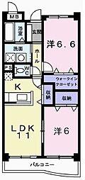 兵庫県高砂市中筋2丁目の賃貸マンションの間取り