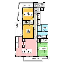 ソフィア竜美ヶ丘[1階]の間取り