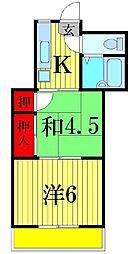 石渡マンション[2階]の間取り