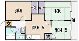 桜ヶ丘レジデンス[4階]の間取り