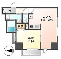 P−SQUARE Shumoku[9階]の間取り