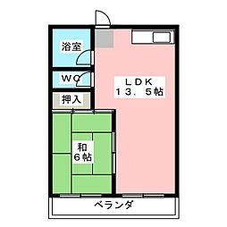 小出ビル[6階]の間取り
