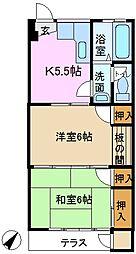 神奈川県横浜市緑区鴨居5丁目の賃貸マンションの間取り