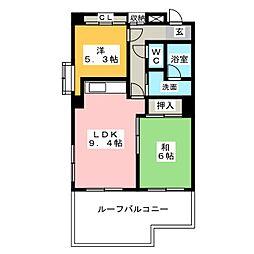 ラフォーレ堅田[3階]の間取り