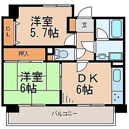 エクセルシオール藤沢[2階]の間取り