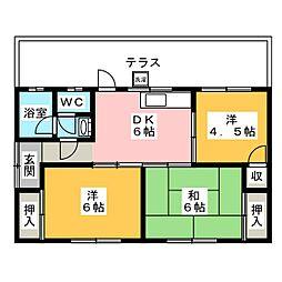 [一戸建] 三重県志摩市阿児町鵜方 の賃貸【/】の間取り