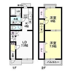 [テラスハウス] 神奈川県厚木市飯山 の賃貸【/】の間取り