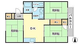ハイネスK−Ⅱ[2階]の間取り