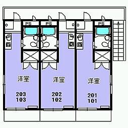 パラシオン富士見[103号室]の間取り