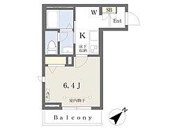 東京メトロ副都心線 池袋駅 徒歩12分の賃貸マンション 1階1Kの間取り