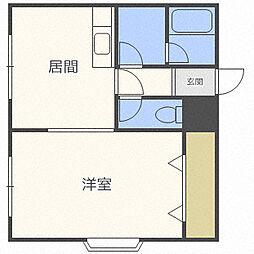 北海道札幌市西区発寒十条1丁目の賃貸マンションの間取り
