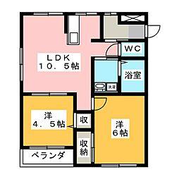 ドッグ・ガーデン[1階]の間取り