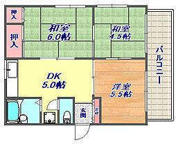 [タウンハウス] 兵庫県神戸市東灘区深江本町1丁目 の賃貸【/】の間取り