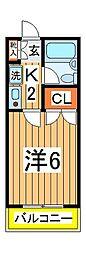 プログレス藤ノ台[201号室]の間取り