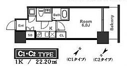アドバンス西梅田ラシュレ[1308号室号室]の間取り