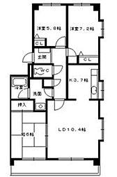 エスペランサII[3階]の間取り