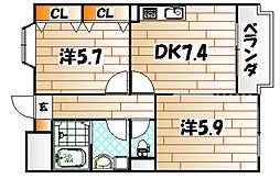 フェルト1215[1階]の間取り