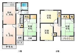 [一戸建] 兵庫県神戸市西区北別府5丁目 の賃貸【/】の間取り