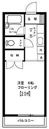 東京都目黒区駒場1丁目の賃貸アパートの間取り