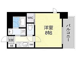 名古屋市営東山線 新栄町駅 徒歩11分の賃貸マンション 10階1Kの間取り