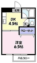 ラフェスタ旗ヶ崎[505号室]の間取り