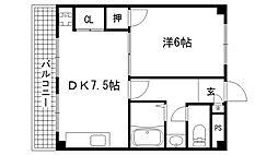 兵庫県神戸市東灘区住吉東町1丁目の賃貸マンションの間取り
