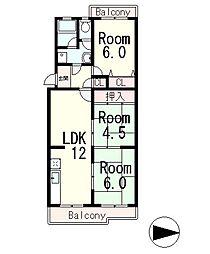セリージェ24[2階]の間取り