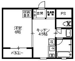 大阪府大阪市中央区鎗屋町1丁目の賃貸マンションの間取り