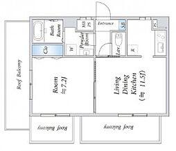 インシュランスビル6[6階]の間取り