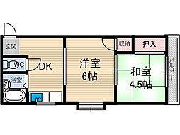 ヴィラ総持寺[3階]の間取り