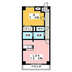バンクーバー1101[5階]の間取り