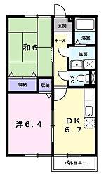 ファミ−ル旭ケ丘I[2階]の間取り