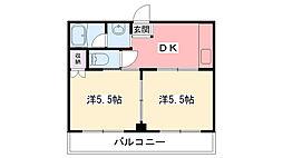 パストラル上田[306号室]の間取り