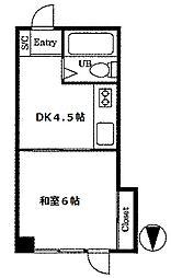 プラザ・ローヤル5[4階]の間取り