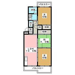 アベニュー88[1階]の間取り