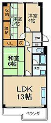 寝屋川東ファミリータウン中1番館[14階]の間取り
