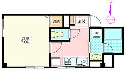 霞南口ビル[1階]の間取り