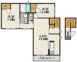 ベールプラザ[2階]の間取り